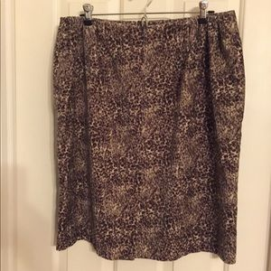 Talbots Skirts - Talbots lined velvet pencil skirt 14w